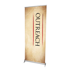 Red Script Outreach Banner