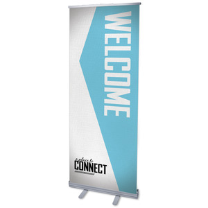 "Place To Connect Welcome 2'7"" x 6'7""  Vinyl Banner"