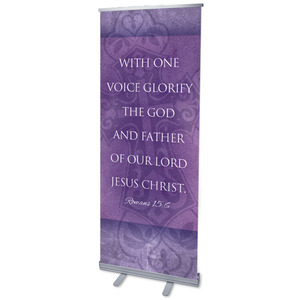 Cross Rom 15:6 Banners