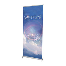 He Lives Welcome Banner