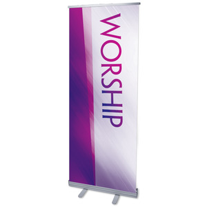 Color Rays Worship Vertical Banners