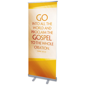 "Color Rays Mark 16:15 2'7"" x 6'7""  Vinyl Banner"