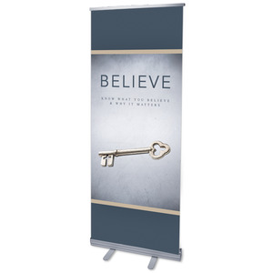 "Believe Now Live The Story 2'7"" x 6'7""  Vinyl Banner"