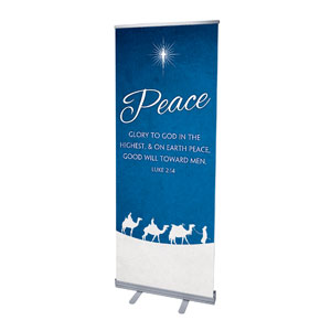 "Advent Peace 2'7"" x 6'7""  Vinyl Banner"
