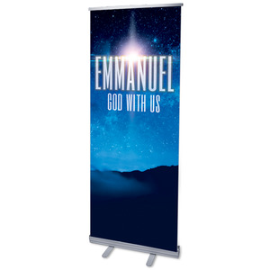 "God With Us M 2'7"" x 6'7""  Vinyl Banner"