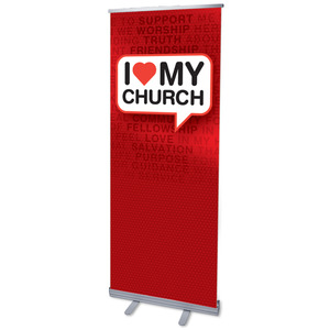 "I Love My Church 2'7"" x 6'7""  Vinyl Banner"