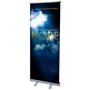 "Hope Breaks Through 2'7"" x 6'7""  Vinyl Banner"