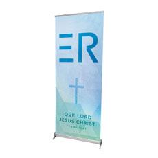 Easter Geometric R Banner
