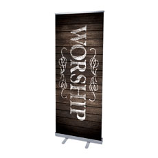 Rustic Charm Worship Banner