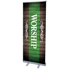 Rustic Charm Grn Worship Banner