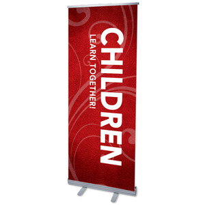 "Flourish Children 2'7"" x 6'7""  Vinyl Banner"