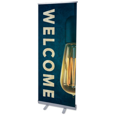 Retro Light Welcome Banner