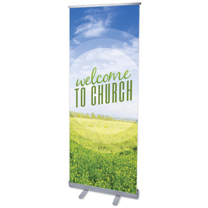 "Season Welcome Field 2'7"" x 6'7""  Vinyl Banner"