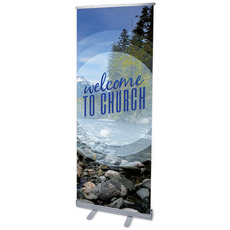 Season Welcome Mountain Banner