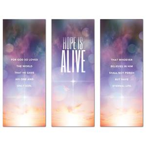 "Hope Is Alive Triptych 2'7"" x 6'7""  Vinyl Banner"