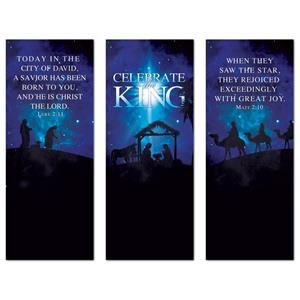 "Celebrate the King Triptych 2'7"" x 6'7""  Vinyl Banner"