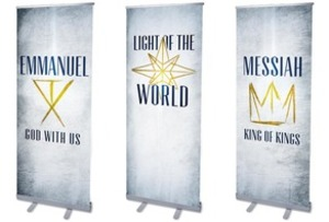 "Light of the World Star 2'7"" x 6'7""  Vinyl Banner"