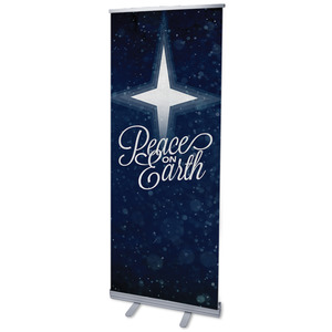 "Peace on Earth 2'7"" x 6'7""  Vinyl Banner"