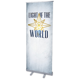 "Light of the World Star M 2'7"" x 6'7""  Vinyl Banner"