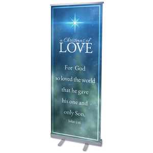 "Christmas of Love 2'7"" x 6'7""  Vinyl Banner"