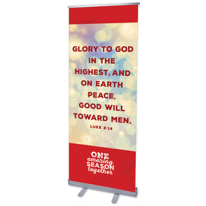"One Amazing Season Luke 2:14 2'7"" x 6'7""  Vinyl Banner"