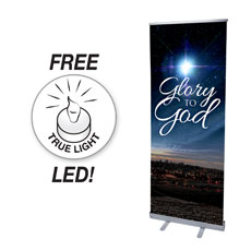 Glory to God Bethlehem Banner