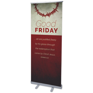 "Color Block Good Friday 2'7"" x 6'7""  Vinyl Banner"