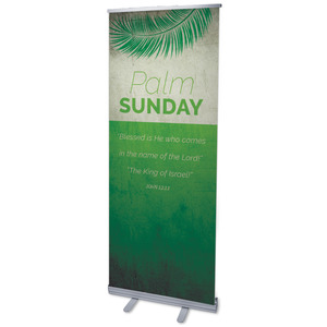 "Color Block Palm Sunday 2'7"" x 6'7""  Vinyl Banner"