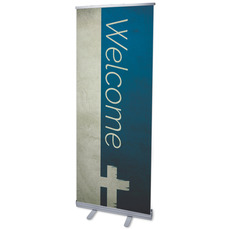 Color Block Welcome Banner