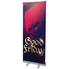 Good Friday Red Crucifixion Banner