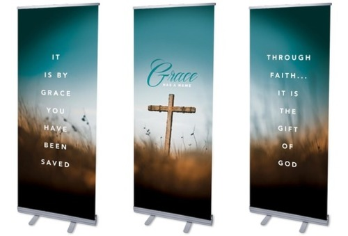 grace has a name banner - church banners