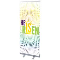 He Is Risen Dots Banner