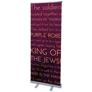 "Holy Words Crucifixion 2'7"" x 6'7""  Vinyl Banner"
