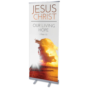 "Jesus Christ Living Hope 2'7"" x 6'7""  Vinyl Banner"