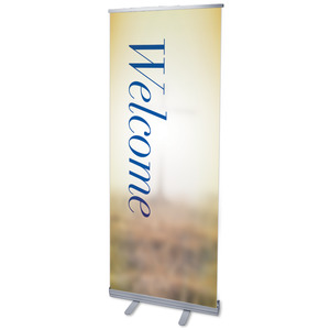 "Traditions Welcome 2'7"" x 6'7""  Vinyl Banner"