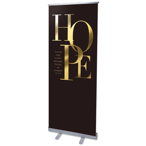 Gold Letters Hope Banners