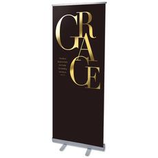 Gold Letters Grace Banner