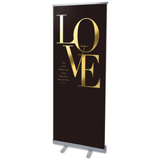 Gold Letters Love Banner