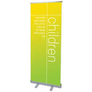 "Color Wash Children 2'7"" x 6'7""  Vinyl Banner"
