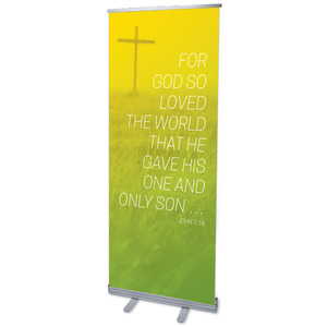 "Color Wash John 3:16 2'7"" x 6'7""  Vinyl Banner"