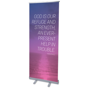"Color Wash Psalm 46:1 2'7"" x 6'7""  Vinyl Banner"