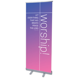 "Color Wash Worship 2'7"" x 6'7""  Vinyl Banner"