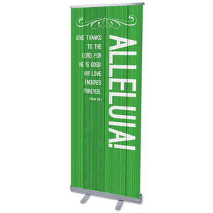 Painted Wood Alleluia Banners