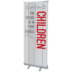 Painted Wood Children Banner
