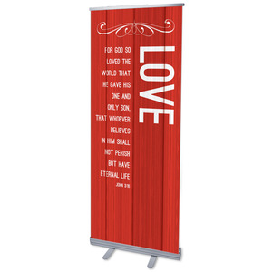Painted Wood Love Banners
