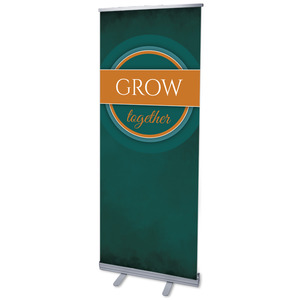 "Together Circles Grow 2'7"" x 6'7""  Vinyl Banner"