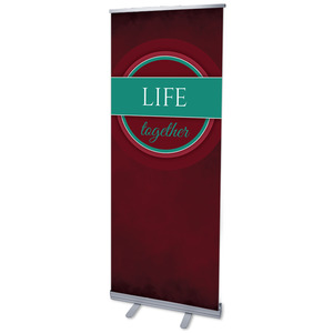 "Together Circles Life 2'7"" x 6'7""  Vinyl Banner"