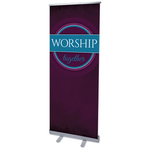 "Together Circles Worship 2'7"" x 6'7""  Vinyl Banner"