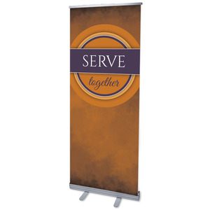 "Together Circles Serve 2'7"" x 6'7""  Vinyl Banner"