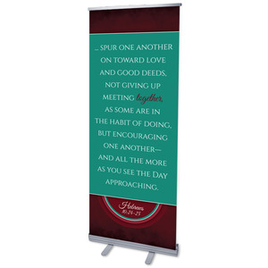 "Together Circles Heb 10 2'7"" x 6'7""  Vinyl Banner"